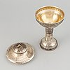 A parcel-gilt cup, maker's mark cg hallberg, stockholm, 1906.