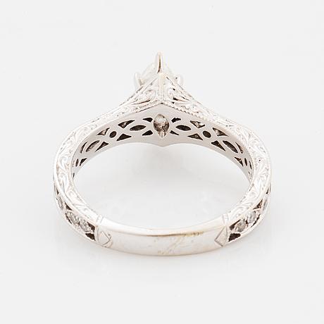 Marquise-cut and brilliant-cut diamond ring.