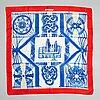 Hermès, a 'macramé' silk scarf.