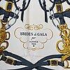 Hermès, a 'brides de gala' silk scarf.