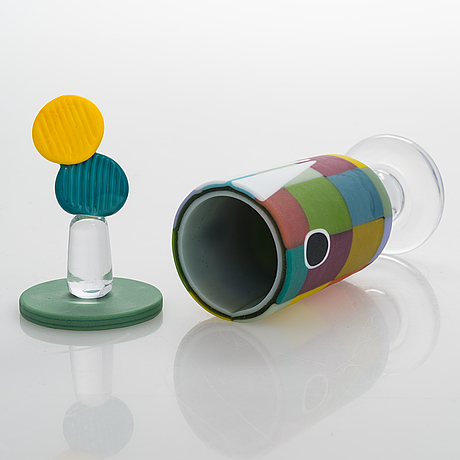 Anu penttinen, an art glass signed anu penttinen billnäs  2018 47/100.