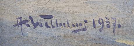 Alexander wilhelms, olja på duk, signerad och daterad 1937.