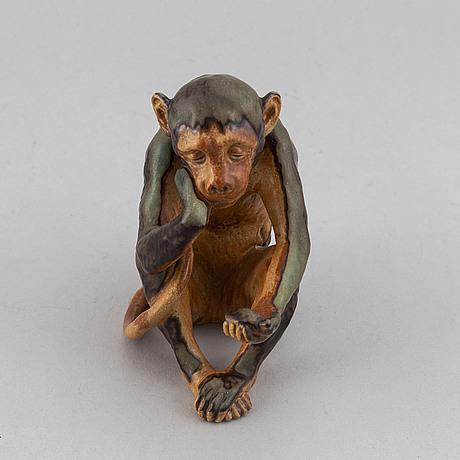 Figurin, porslin, bing & gröndal, köpenhamn, 1900-talets första hälft.