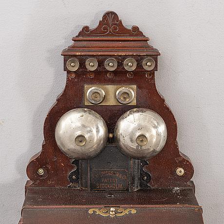 VÄggtelefon lm ericsson &co stockholm, omkring 1900.