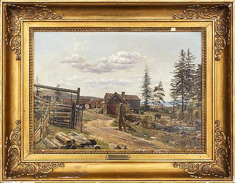 Wilhelm marstrand, olja på duk, signerad.