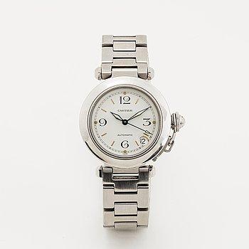 Cartier, Pasha, wristwatch, 35.5 mm.