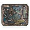 Rut bryk, a decorative plate signed bryk arabia.
