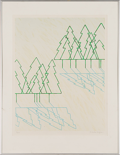 Kristian krokfors, litograph, signed and dated -84, numbered 75/300.