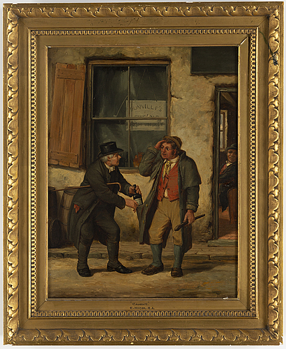 Erskine nicol, oil on canvas, signed and dated 1846.