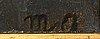 Michael ancher, olja på pannå, monogramsignerad.