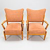 A pair of 1950s '2411' armchairs for asko finland.