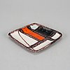 Guido gambone, a stoneware dish, italy, 1950s-60s. signed.