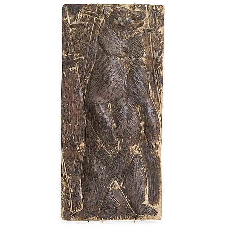 Michael schilkin, a stoneware relief signed schilkin -58.