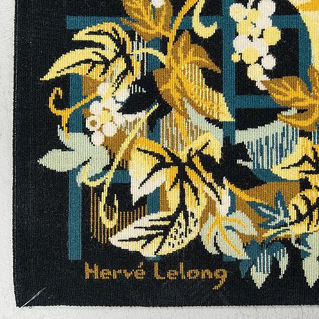 A wallhanging, machine-made, ca 99 x 157 cm, signed hervé lelong, j.f.d.