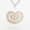 """Tapio wirkkala, a sterling silver pendant """"apple"""". kultakeskus 1975."""