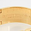 Frey wille, a bangle and a pair of earrings,  gilt metal and enamel, austria.