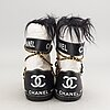 Chanel moon boots.