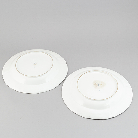 A pair of porcelain dishes, kpm, berlin, late 18th century.