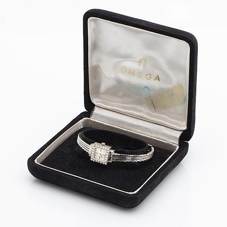 Omega, montre de luxe, armbandsur, 14 x 14 mm.