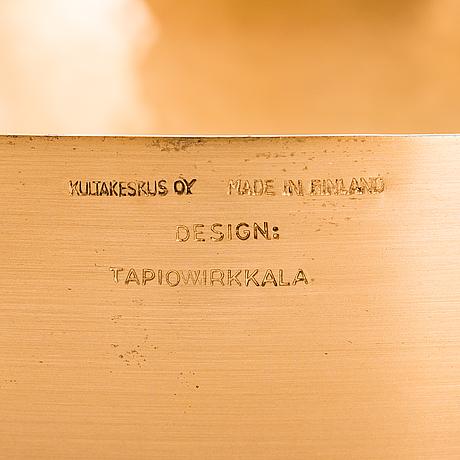 Tapio wirkkala, skålar, 2 st, modell malli tw 476 märkta design tapio wirkkala, kultakeskus, made in finland.