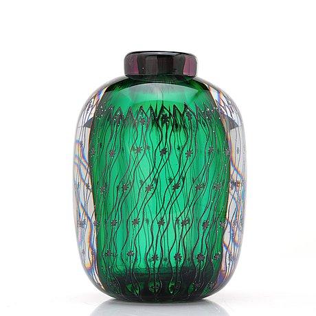 "Edvin öhrström, an ""ariel"" glass vase, orrefors, sweden 1948."