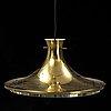 A 'rex' pendant lamp by lennart centerwall for ikea, 1970's.