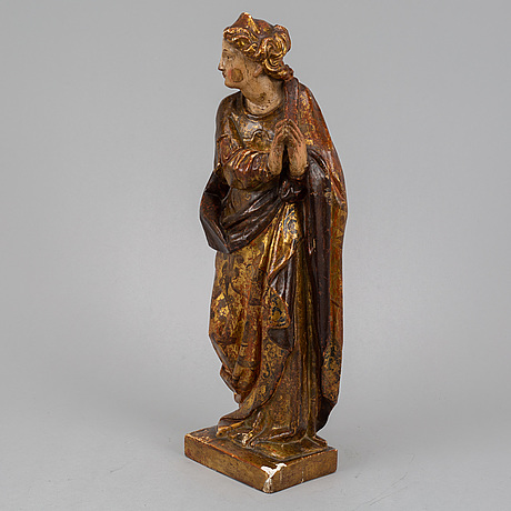 A wooden sculpture, 18th century.