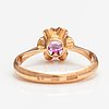 A 14k gold ring with a synthetic ruby. soviet union.