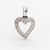 An 18k white gold pendant with diamonds ca. 0.19 ct in total.