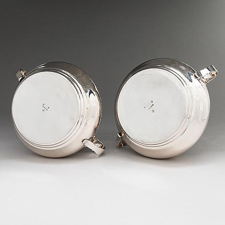 A pair of danish silver tureens, maker's mark of franz hingelberg, aarhus, denmark 1917.