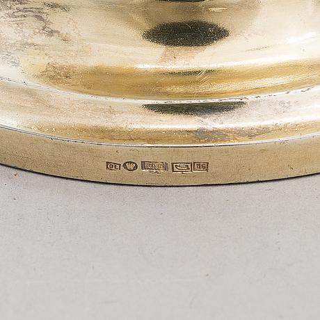 An english gilt silver ewer, maker's mark george fox, london 1863.