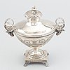 A swedish gustavian silver sugar-bowl and cover, mark of anders fornholm, stockholm 1790.