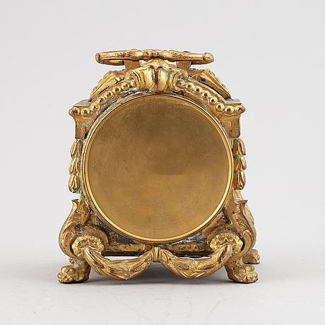 A neo louis xvi table clock, late 19th century.