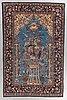 A rug, old qum, part silk, ca 212 x 139 cm.