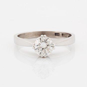 Brilliant-cut diamond ring, 0.79 ct according to engraving, Gustav Dahlgren & Co, Malmö, 1965.