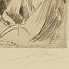 Anders zorn, etsning, 1897, signerad med blyerts.