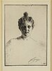 Anders zorn, etching, 1900, signed in pencil.