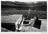 Terry o'neill, 'elton john, dodgers stadium, howling', 1975.