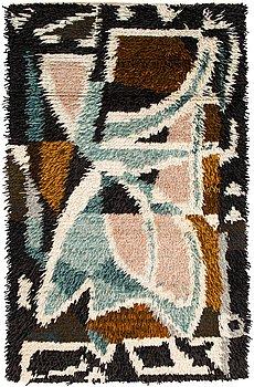 Lennart Segerstråle, a unique rya rug. Circa 170x110 cm.