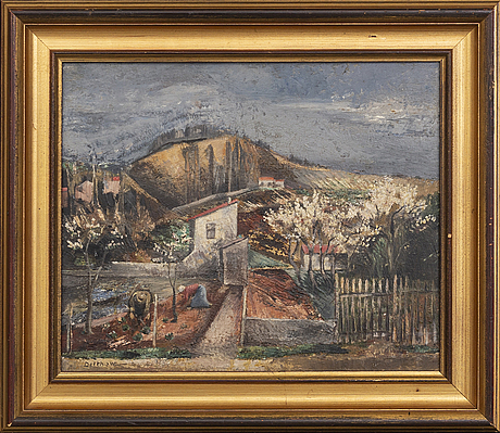Eric detthow, oil on panel signed and dated 1927.