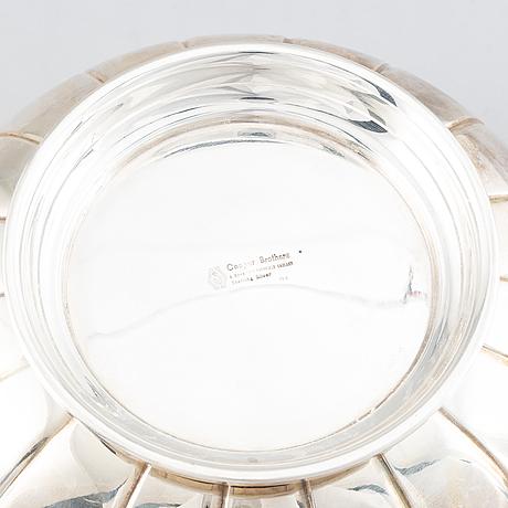 A silver bowl.