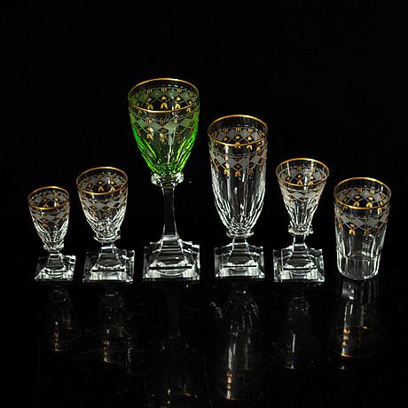 A part 'odelberg junior' glass service, kosta boda (49 pieces).