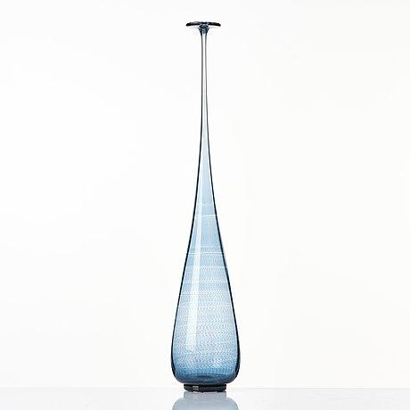 Nils landberg, a glass vase, orrefors, sweden 1964.