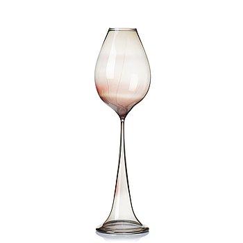 """12. Nils Landberg, a """"Tulip"""" glass goblet, Orrefors, Sweden 1954."""