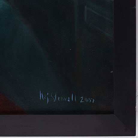 Kaj stenvall, oil on canvas, signed and dated 2007.