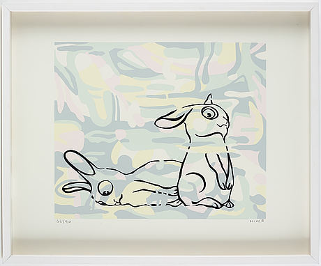 Marianne lindberg de geer, serigraph in color, signed and numbered 62/90.