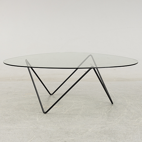 A 'pedera' glass top coffee table by corsini & millet for gubi.