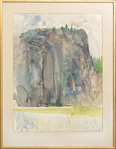 Arne isacsson, watercolour signed and dated 72.