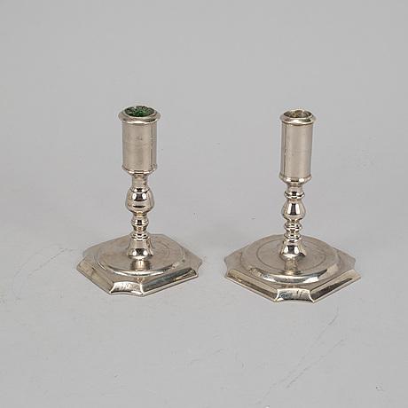Two swedish 18th century candlesticks.