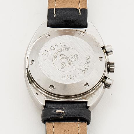 Omega, seamaster, chronograph, wristwatch, 42 x 49 mm.